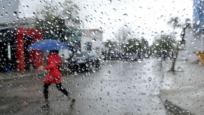 Llueve en Firmat y la región